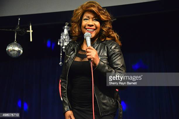 R and B singer Mary Wilson performs at Amoeba Records on November 18 2015 in Los Angeles California