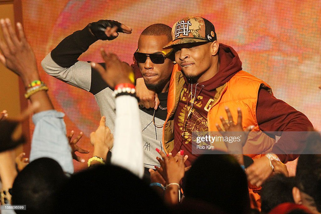 T.I. (R) and B.o.B perform BET's '106 & Party' 2013 New Years Eve party at BET Studios on December 17, 2012 in New York City.