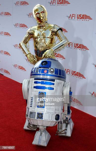 R2D2 and C3PO at the Kodak Theatre in Hollywood California