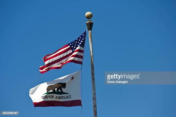 USA and California Flags