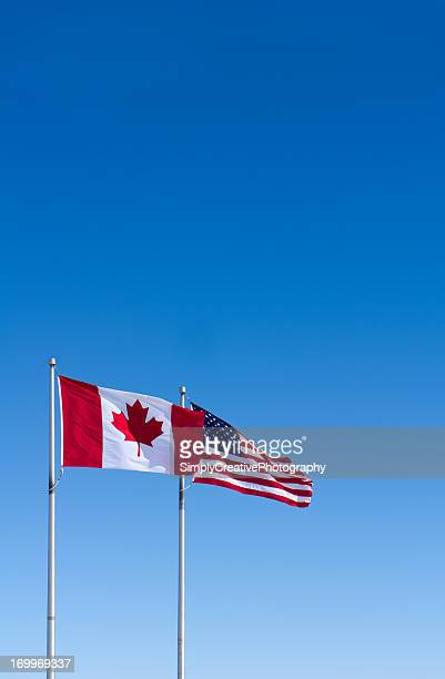USA and Canada Flags