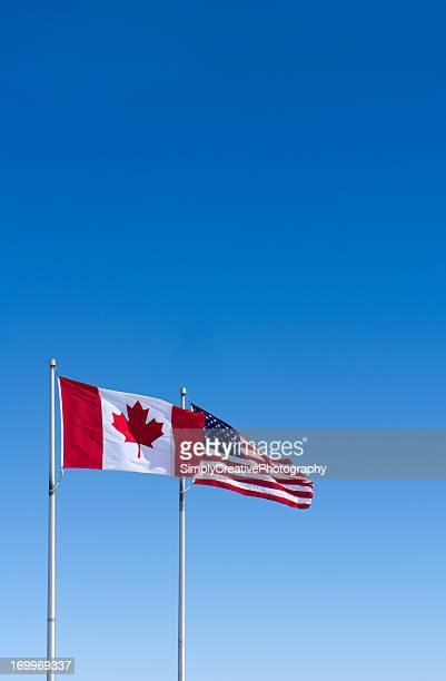 Bandiere USA e Canada