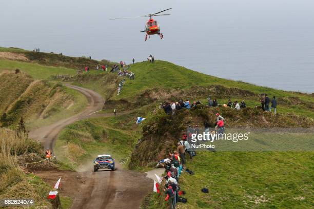 SUAREZ and CANDIDO ESTEVEZ in PEUGEOT 208 T16 of PEUGEOT RALLY ACADEMY in action during the Sete Cidades of the FIA ERC Azores Airlines Rallye 2017...