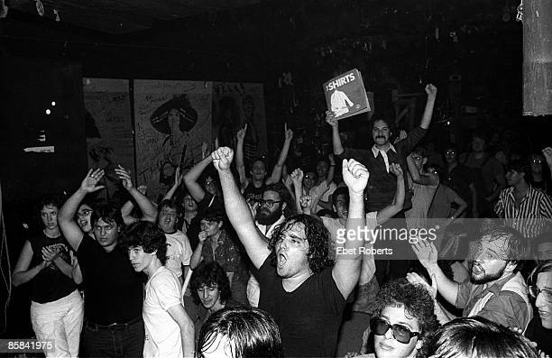 S Photo of PUNKS and CBGBs and CBGB's audience watching The Shirts at CBGBs club punk cheering