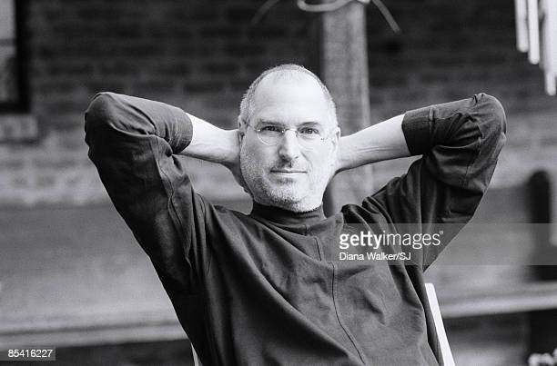 CEO and chairman of Apple Steve Jobs at his Palo Alto home for Time Magazine December 7 2004 NO SALES OF IMAGE IN ENGLISH LANGUAGE TERRITORIES...