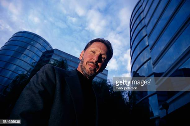 CEO and Chairman of Oracle Corporation Lawrence Ellison in front of Oracle headquarters in California Ellison has received numerous honors and awards...