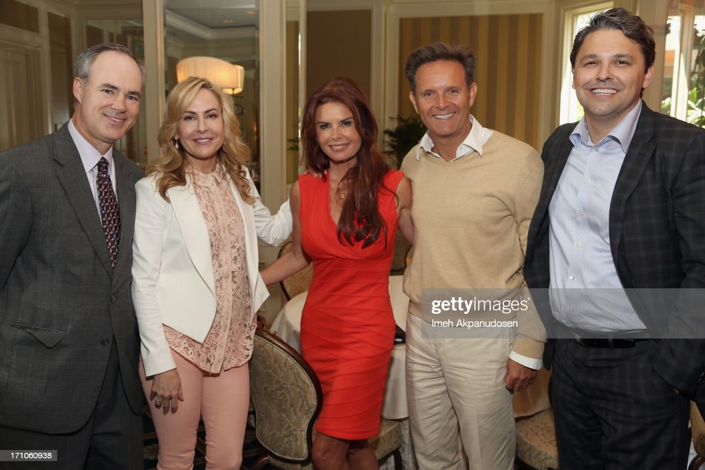EVP and Chief Marketing Office of Walmart Stephen Quinn, Managing Director of Strategic Partnerships at Variety Brooke Turpin, Executive Producers Roma Downey, Mark Burnett and Senior Director of Walmart & Co-Chair of ANA Alliance for Family Entertainment Ben Simon attend Variety's Purpose: The Faith And Family Summit n Association with Rogers and Cowan at Four Seasons Hotel Los Angeles on June 21, 2013 in Beverly Hills, California.