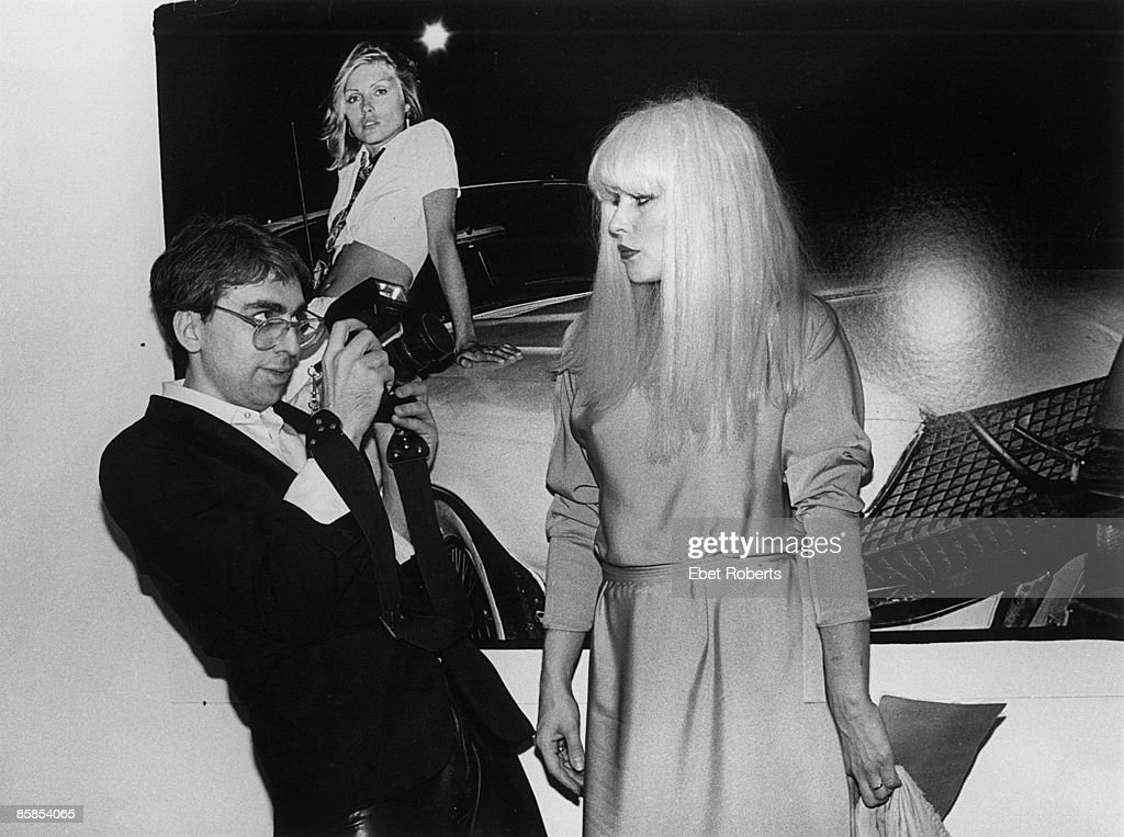 Photo of BLONDIE and Chris STEIN and Debbie HARRY; Chris Stein and Debbie Harry at a book release party for 'Making Tracks:The Rise Of Blondie', camera