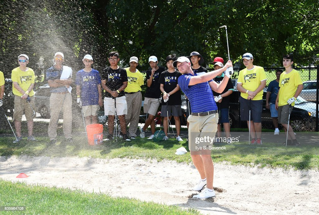LACOSTE and City Parks Foundation host youth golf clinic with PGA TOUR Player, Daniel Berger on August 20, 2017 in New York City.