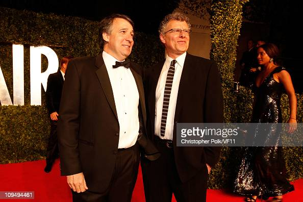 CEO and cofounder of Getty Images Jonathan Klein and director Jon Amiel attend the 2011 Vanity Fair Oscar Party Hosted by Graydon Carter at the...