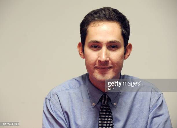CEO and cofounder of Instagram Kevin Systrom poses during the opening session of LeWeb12 on December 04 2012 in SaintDenis near Paris AFP PHOTO ERIC...