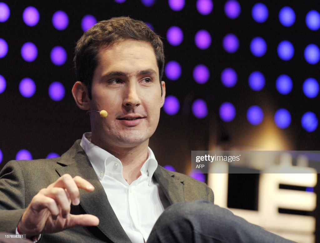 CEO and co-founder of Instagram Kevin Systrom talks during a session at LeWeb Paris 2012 in Saint-Denis, near Paris on December 5, 2012. AFP PHOTO ERIC PIERMONT