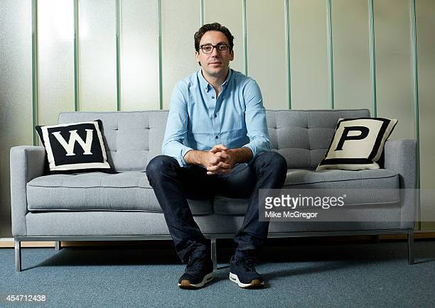 CEO and cofounder of Warby Parker Neil Blumenthal is photographed for Delta Sky Magazine on July 29 2014 in New York City