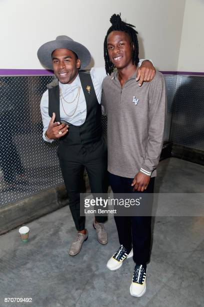 MAJOR and Daniel Caesar attend the 2017 Soul Train Awards presented by BET at the Orleans Arena on November 5 2017 in Las Vegas Nevada