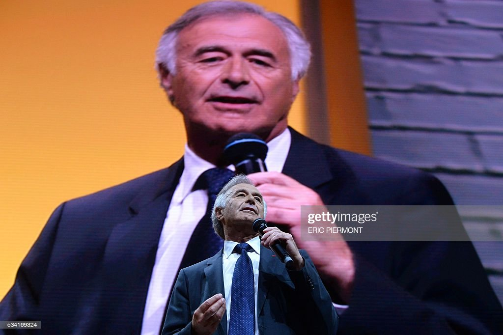 CEO and Director of French aerospace engineering company Safran, Philippe Petitcolin delivers a speech during the second edition of the entrepreneurial event Bpifrance Inno Generation on the theme of 'Let's build together the world of tomorrow' at the AccorHotels Arena in Paris on May 25, 2016. / AFP / ERIC