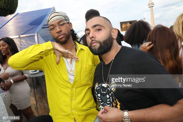 PARTYNEXTDOOR and DJ Charlie B attend the French Montana 'Unforgettable Party' In Toronto For Caribana 2017 on August 6 2017 in Toronto Canada