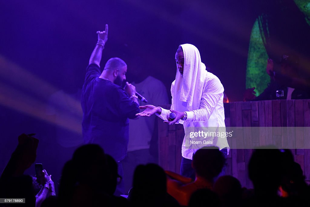 TI and DJ Khaled perform onstage at the 2016 Panorama NYC Festival Day 1 at Randall's Island on July 22 2016 in New York City