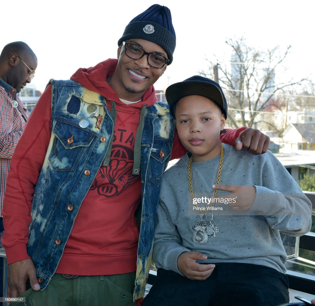 T.I. and Domani Harris attend Domani Harris's birthday celebration at Indigo on March 16, 2013 in Toronto, Canada.