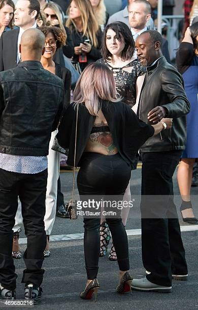 I and Don Cheadle are seen in Hollywood on April 13 2015 in Los Angeles California