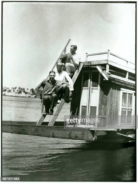 'GLG EGF and EFC' Captains GL Groves and EG Frost with EF Charlesworth on board their houseboat the Minnehaha lake Dal Background to this image With...
