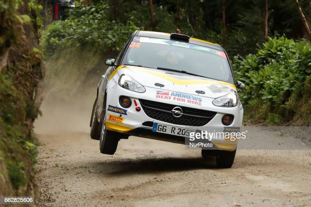 INGRAM and ELLIOT EDMONDSON in OPEL ADAM R2 of OPEL RALLYE JUNIOR TEAM in action during the Sete Cidades of the FIA ERC Azores Airlines Rallye 2017...
