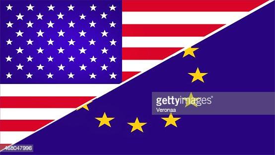 USA and Europe flag