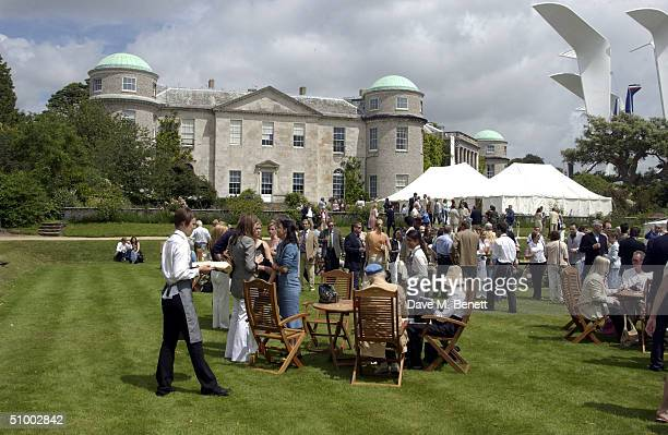 And exterior view of the 'Style Et Luxe' party and lunch hosted by Cartier as part of the Goodwood Festival Of Speed at The Private Lawn Goodwood on...