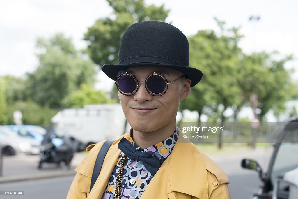 DJ, MC and Fashion blogger Peter Xu on day 4 of Paris Collections: Men on June 29, 2013 in Paris, France.