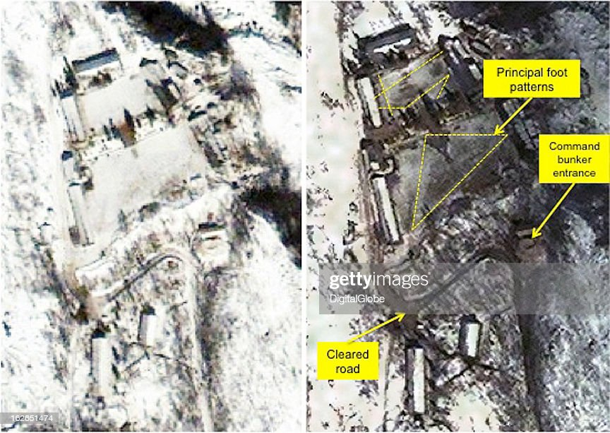 This satellite image of the Punggye-Ri facility shows activity around the Adminstration and Staging Area.