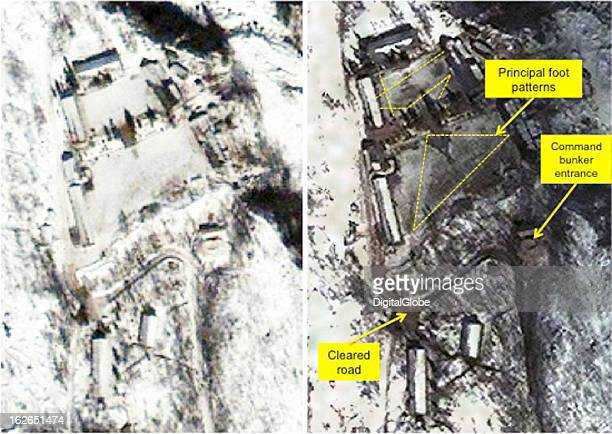This satellite image of the PunggyeRi facility shows activity around the Adminstration and Staging Area
