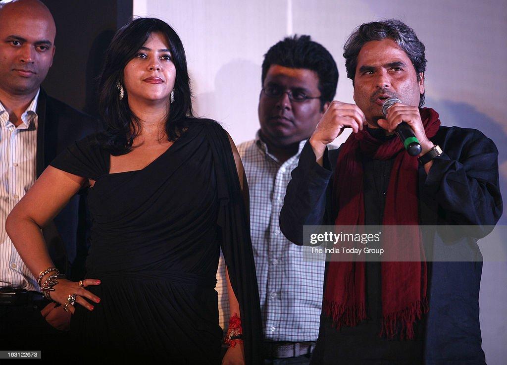 TV and film producer Ekta Kapoor launched tele series Ek Thi Naayka along with Vishal Bhardwaj and telly actors.