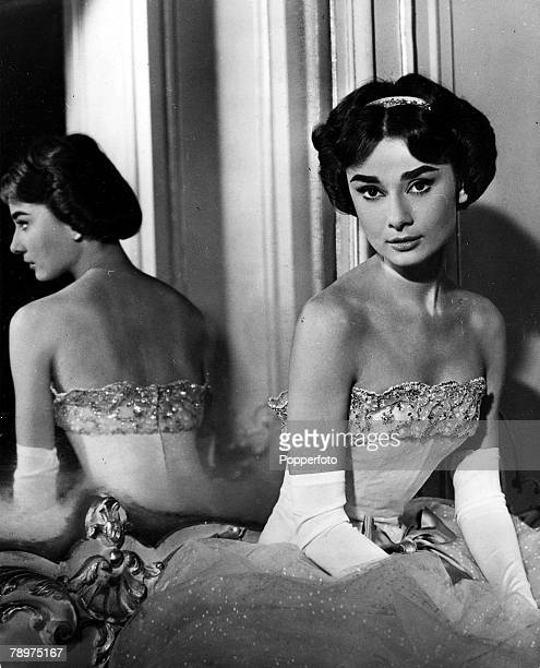 TV and Films 20th March 1957 USA A picture of legendary Belgian born American actress Audrey Hepburn on the set of the film Love in the Afternoon