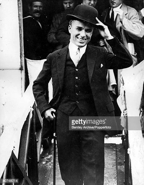 TV and Films A picture of Charlie Chaplin the English comedian silent film actor and director as a young man