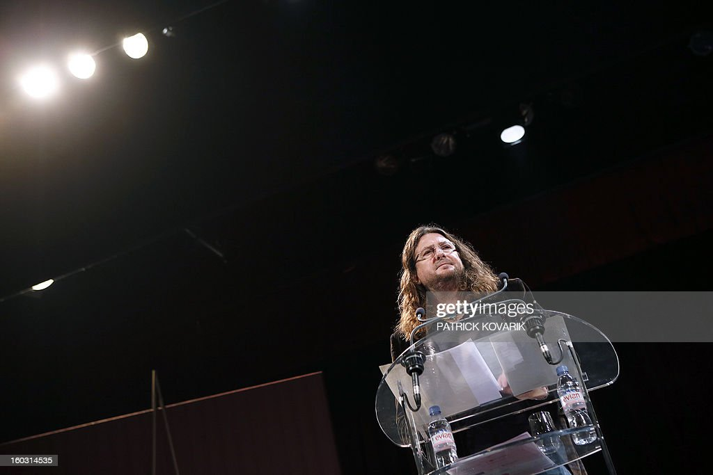 CEO and founder of French ecommerce company Vente-Privée.com Jacques-Antoine Granjon gives a press conference, on January 29, 2013 at the theatre de Paris in Paris. Granjon announced his group bought the theatre as part of its diversification strategy.