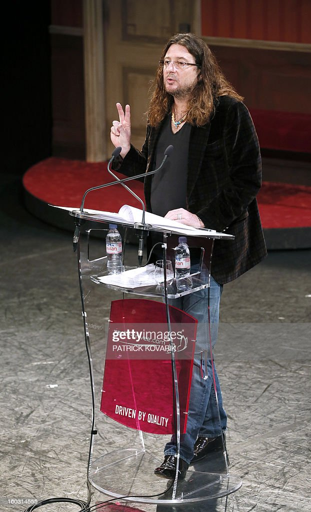 CEO and founder of French ecommerce company Vente-Privée.com Jacques-Antoine Granjon gives a press conference, on January 29, 2013 at the theatre de Paris in Paris. Granjon announced his group bought the theatre as part of its diversification strategy. AFP PHOTO / PATRICK KOVARIK