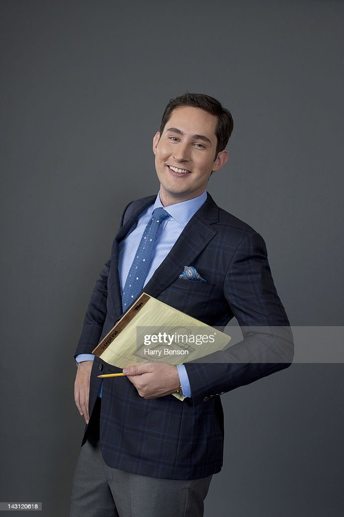 CEO and founder of Instagram, Kevin Systrom poses for Forbes Magazine on December 12, 2011 in New York City.
