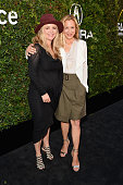 CEO and founder of The Communication Group Clare Munn and actress Maria Bello attend the 2015 Sundance Institute Celebration Benefit at 3LABS on June...