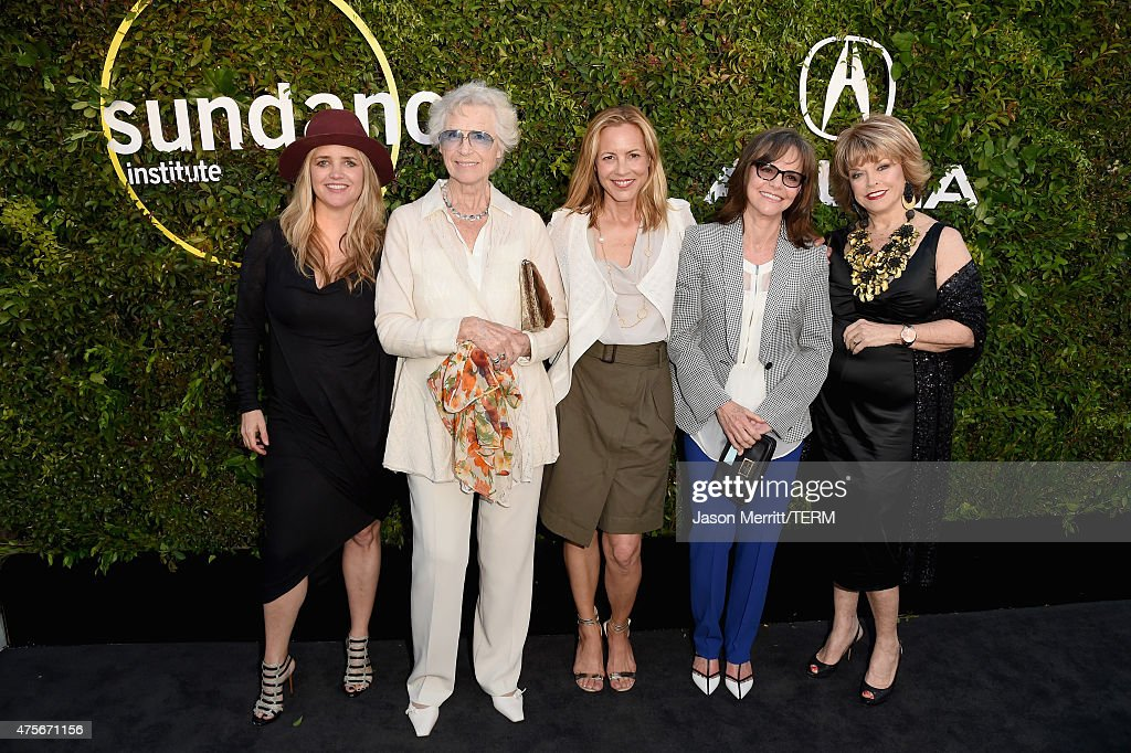 CEO and founder of The Communication Group Clare Munn, Christina Kummer-Hardt, actors Maria Bello, Sally Field and Sundance Institute board chair Pat Mitchell attend the 2015 Sundance Institute Celebration Benefit at 3LABS on June 2, 2015 in Culver City, California.