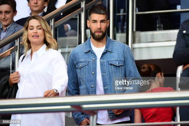 PSG and France handball player Luka Karabatic with his wife Jeny Priez during the Ligue 1 match between Paris Saint Germain and Toulouse at Parc des...