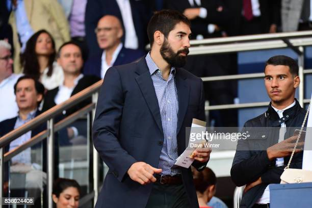 PSG and France handball player Nikola Karabatic during the Ligue 1 match between Paris Saint Germain and Toulouse at Parc des Princes on August 20...
