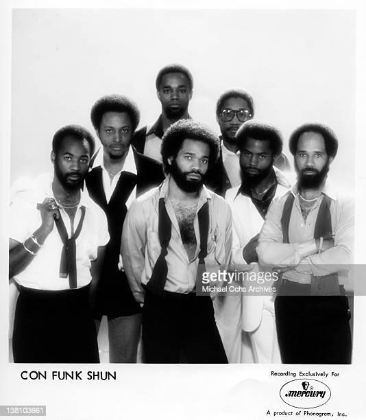 B and funk band Con Funk Shun pose for a publicity portrait circa 1985