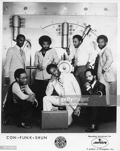 B and funk band Con Funk Shun pose for a publicity portrait in 1977