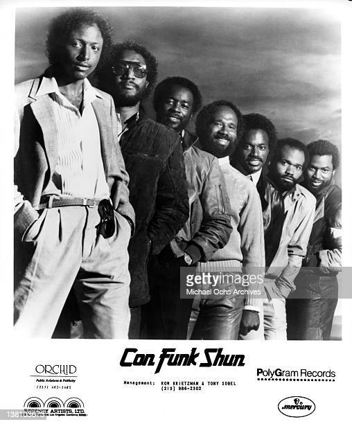 B and funk band Con Funk Shun pose for a publicity portrait in 1985