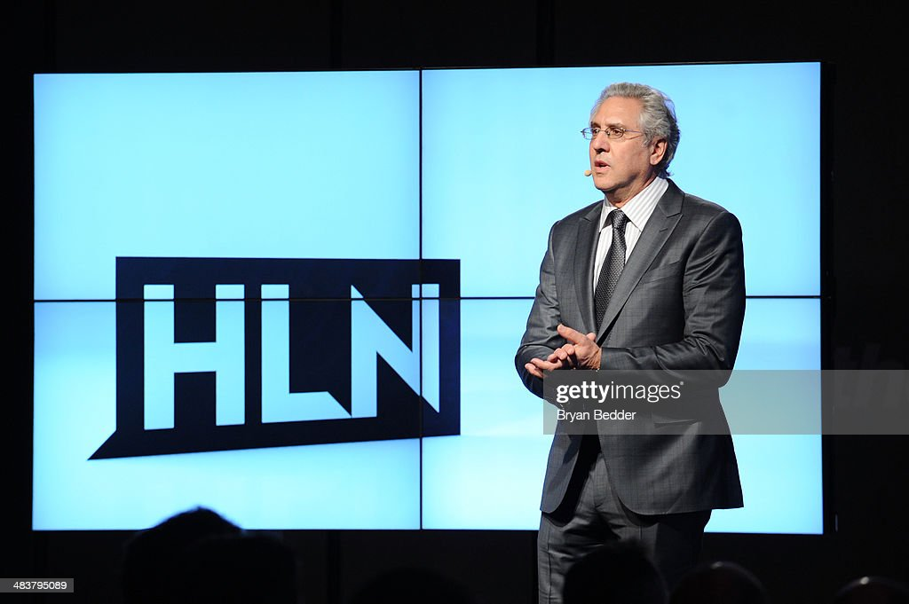 EVP and General Manager of HLN <a gi-track='captionPersonalityLinkClicked' href=/galleries/search?phrase=Albie+Hecht&family=editorial&specificpeople=215228 ng-click='$event.stopPropagation()'>Albie Hecht</a> speaks onstage at the CNN Upfront 2014 at Skylight Modern on April 10, 2014 in New York City. 24679_002_0226.JPG