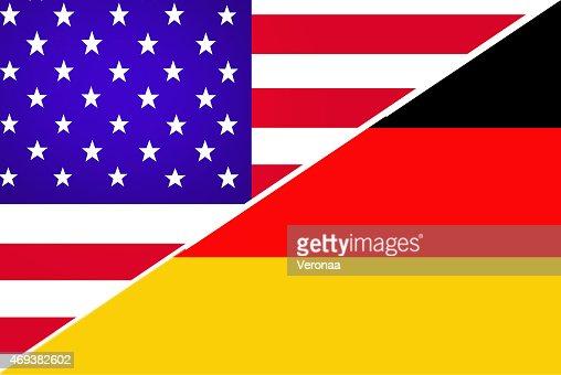 USA and German flag