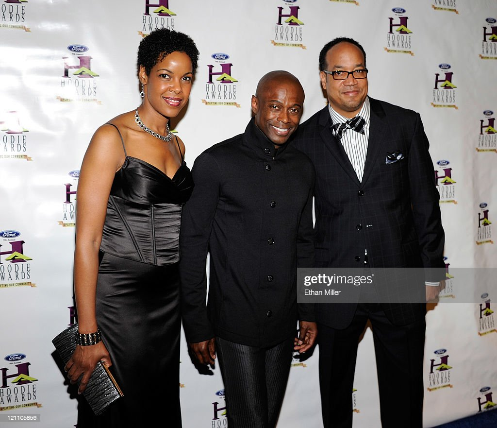KEM and guests arrives at the ninth annual Ford Hoodie Awards at the Mandalay Bay Events Center August 13, 2011 in Las Vegas, Nevada.