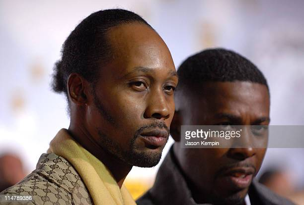 RZA and GZA of WuTang Clan during 2006 VH1 Hip Hop Honors Arrivals at Hammerstein Ballroom in New York City New York United States