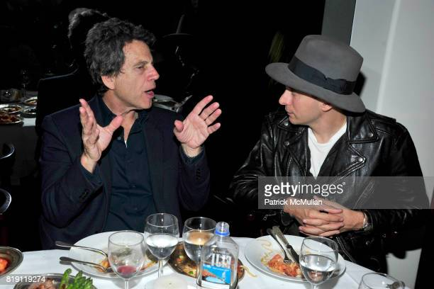 and Hedi Slimane attend LARRY GAGOSIAN hosts a Private Dinner for the ANDREAS GURSKY Opening Exhibition at GAGOSIAN GALLERY at Mr Chow on March 4...