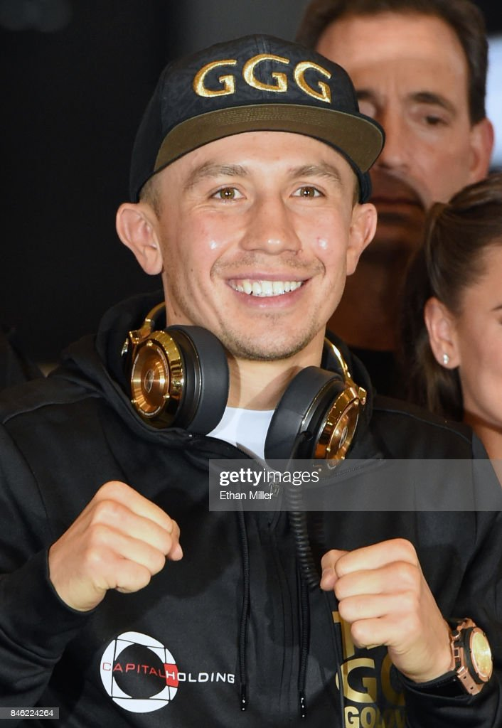 WBC, WBA and IBF middleweight champion Gennady Golovkin arrives at MGM Grand Hotel & Casino on September 12, 2017 in Las Vegas, Nevada. Golovkin will defend his titles against Canelo Alvarez at T-Mobile Arena on September 16 in Las Vegas.