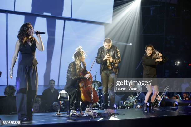 J and Ibrahim Maalouf perform during 'Les Victoires de la Musiques 2017' at Le Zenith on February 10 2017 in Paris France